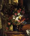 Vase of Flowers on a Console 1848-1849