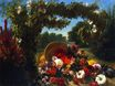 A Basket of Flowers Overturned in a Park 1848-1849