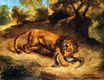 Lion and Caiman. Lion Clutching a Lizard or Lion Devouring an Alligator 1855