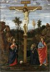 Gherardo di Giovanni del Fora - The Crucifixion of Christ with the Image of Saint Benedict 1490