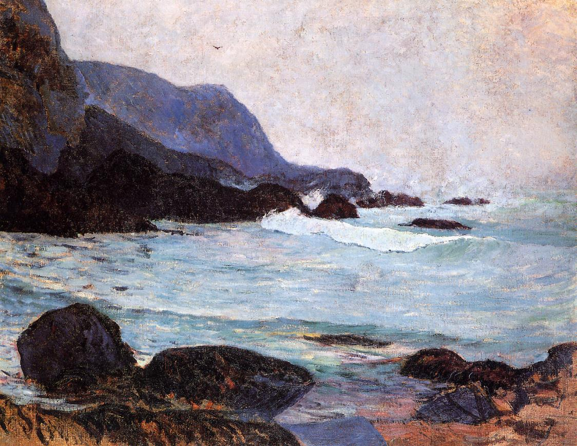Paul Gauguin - The Coast of Bellangenay 1876