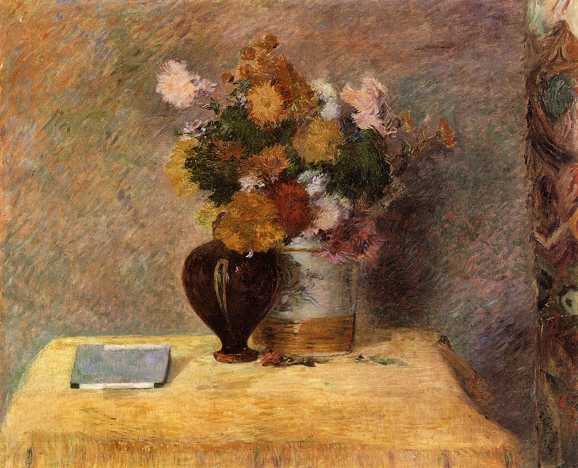 Paul Gauguin - Flowers and Japanese book 1882