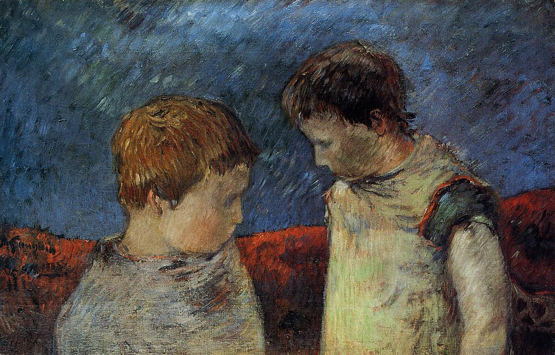 Paul Gauguin - Aline Gauguin and one of her brothers 1883