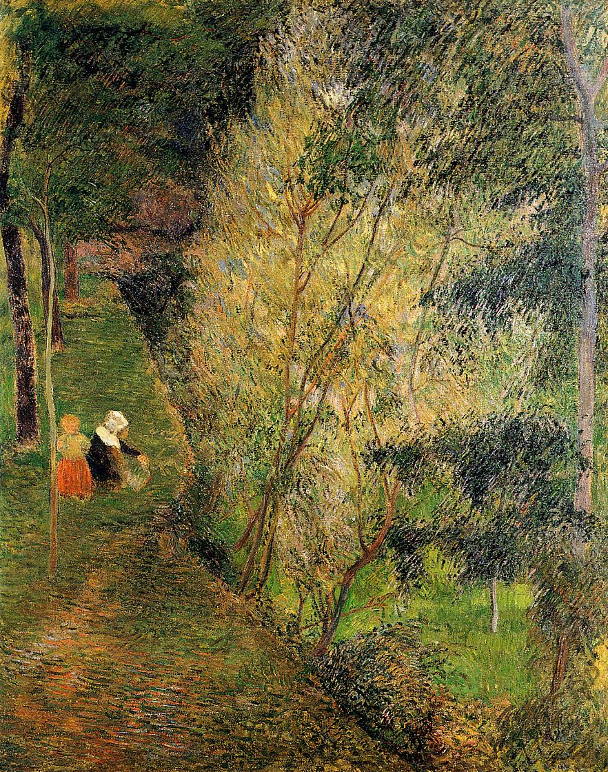 Paul Gauguin - Pont-Aven woman and child 1886