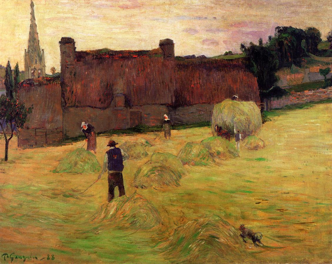 Paul Gauguin - Haymaking in Brittany 1888