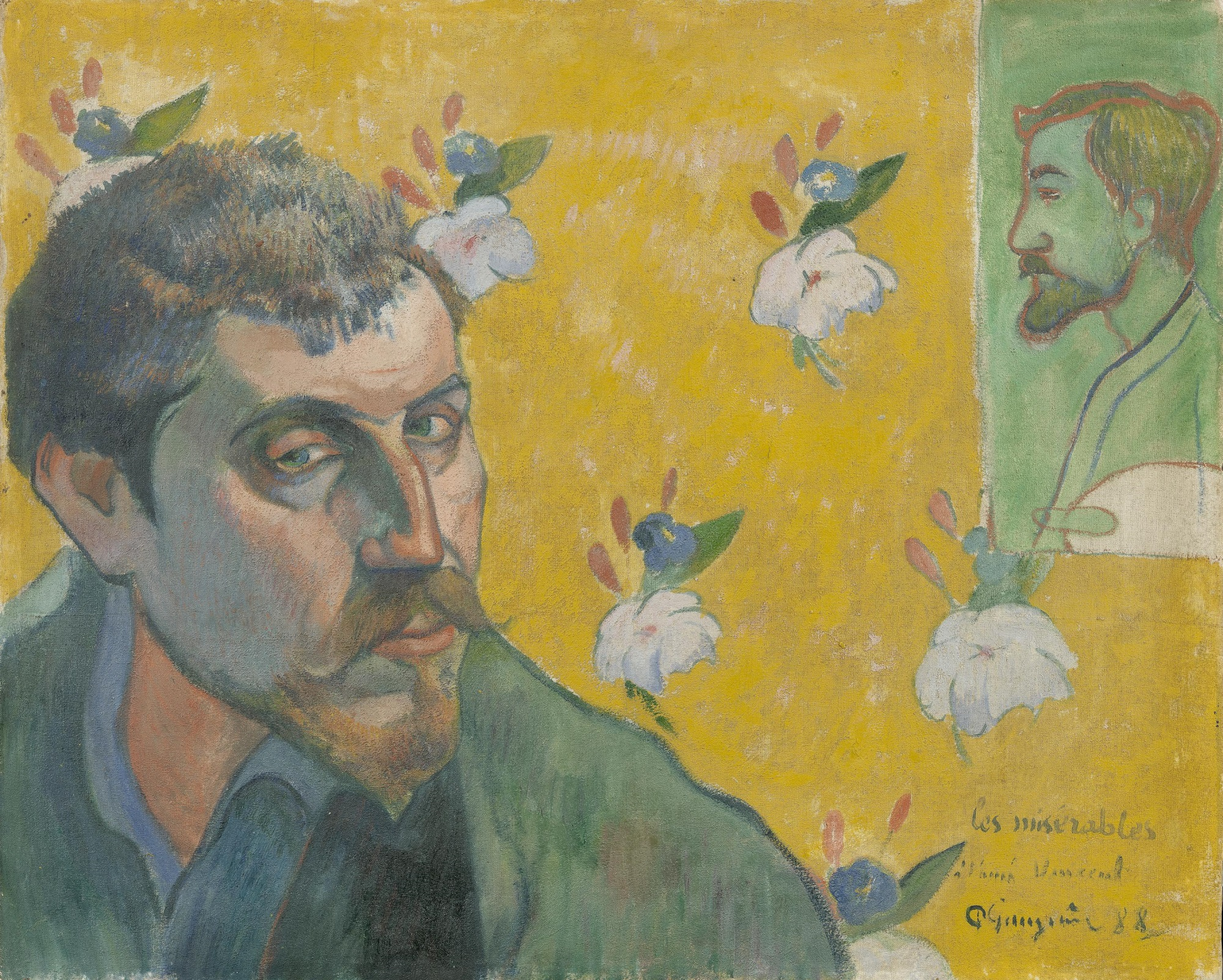Paul Gauguin - Self-Portrait Dedicated to Vincent van Gogh. Les Miserables 1888