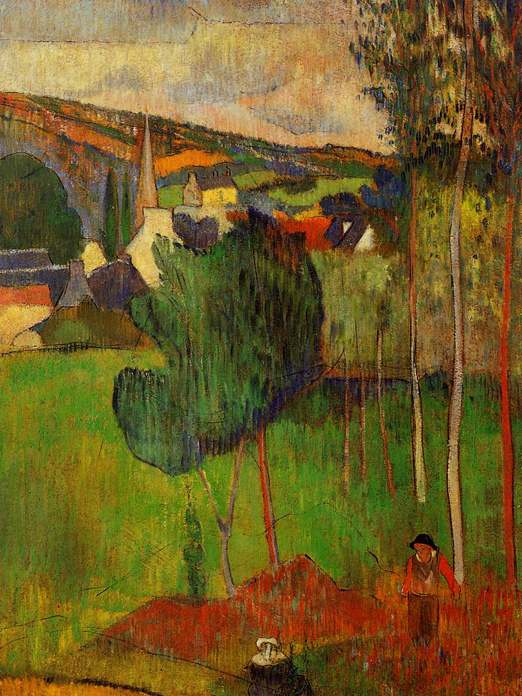 Paul Gauguin - View of Pont-Aven from Lezaven 1888