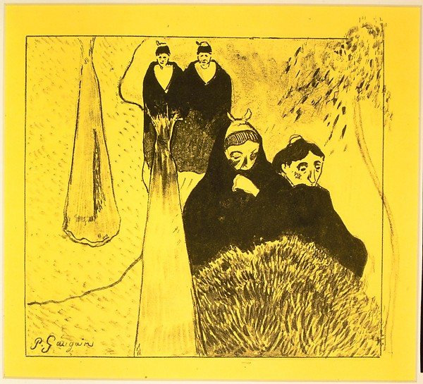 Paul Gauguin - Old Women of Arles, from the Volpini Suite Dessins lithographiques 1889