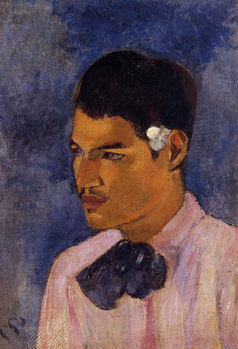 Paul Gauguin - Young Man with a Flower Behind his Ear 1891