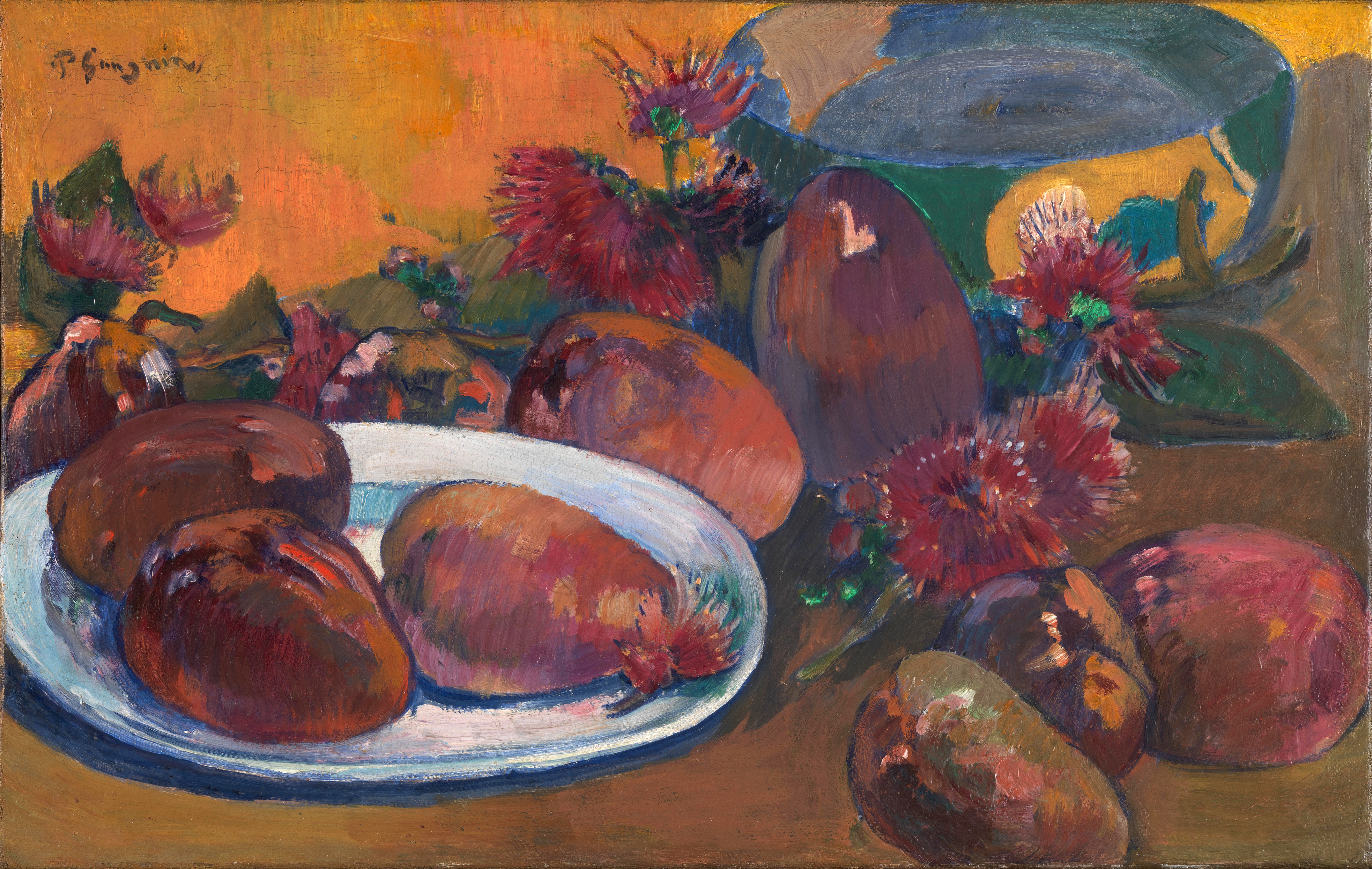 Paul Gauguin - Still life with mangoes 1893