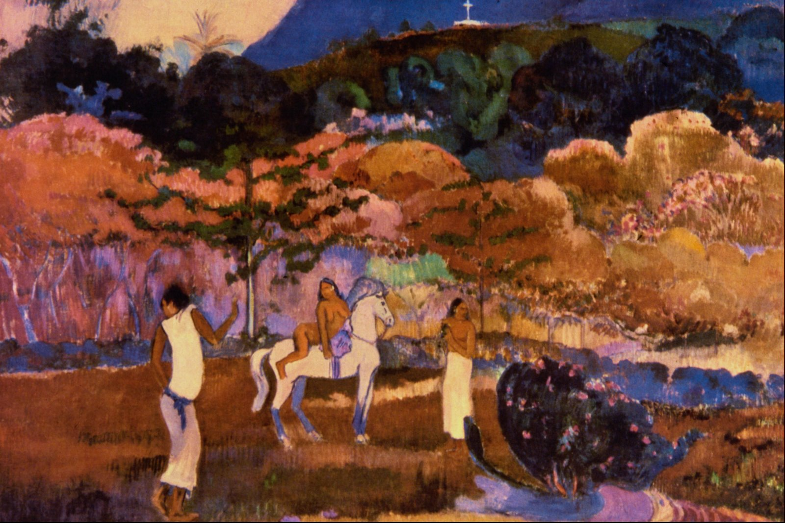 Paul Gauguin - Women and white horse 1903