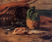 Paul Gauguin - Still life with red mullet and jug 1876