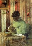 Paul Gauguin - The embroiderer or Mette Gauguin 1878