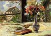 Paul Gauguin - Still life. Vase with flowers on the window 1881