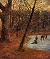 Paul Gauguin - Skaters in Fredericksberg park 1884
