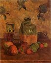 Paul Gauguin - Apples, Jug, Iridescent Glass 1884