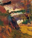 Paul Gauguin - Fisherman and bathers on the Aven 1888