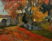 Paul Gauguin - Lane at alchamps, Arles 1888