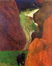 Paul Gauguin - Seascape with cow on the edge of a cliff 1888