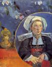 Paul Gauguin - The Beautiful Angel. Madame Angele Satre, the Innkeeper at Pont-Aven 1889