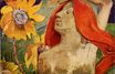 Paul Gauguin - Redheaded woman and sunflowers 1890