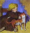 Paul Gauguin - Mimi and her Cat 1890