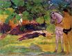 Paul Gauguin - In the Vanilla Grove, Man and Horse. The Rendezvous 1891