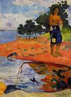 Paul Gauguin - She goes down to the fresh water. Haere Pape 1892