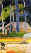 Paul Gauguin - Cabin under the trees 1892