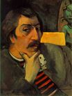Paul Gauguin - Self Portrait with the Idol 1893