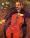 Paul Gauguin - The Cellist. Portrait of Upaupa Scheklud 1894