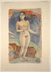Paul Gauguin - Standing Nude Woman. Te nave nave fenua 1894