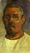 Paul Gauguin - Self portrait with spectacles 1903