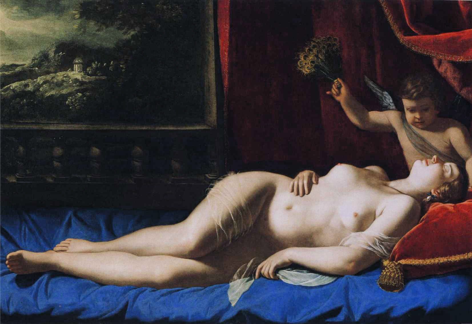 Artemisia Gentileschi - Sleeping Venus. Venus and Cupid 1625-1630