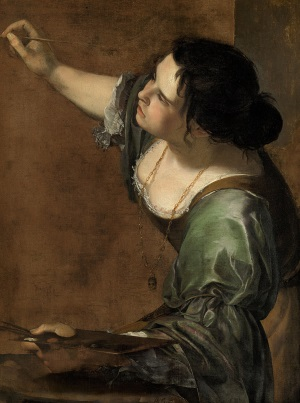 Artemisia Gentileschi Self-Portrait as a Lute Player, 1615–1617