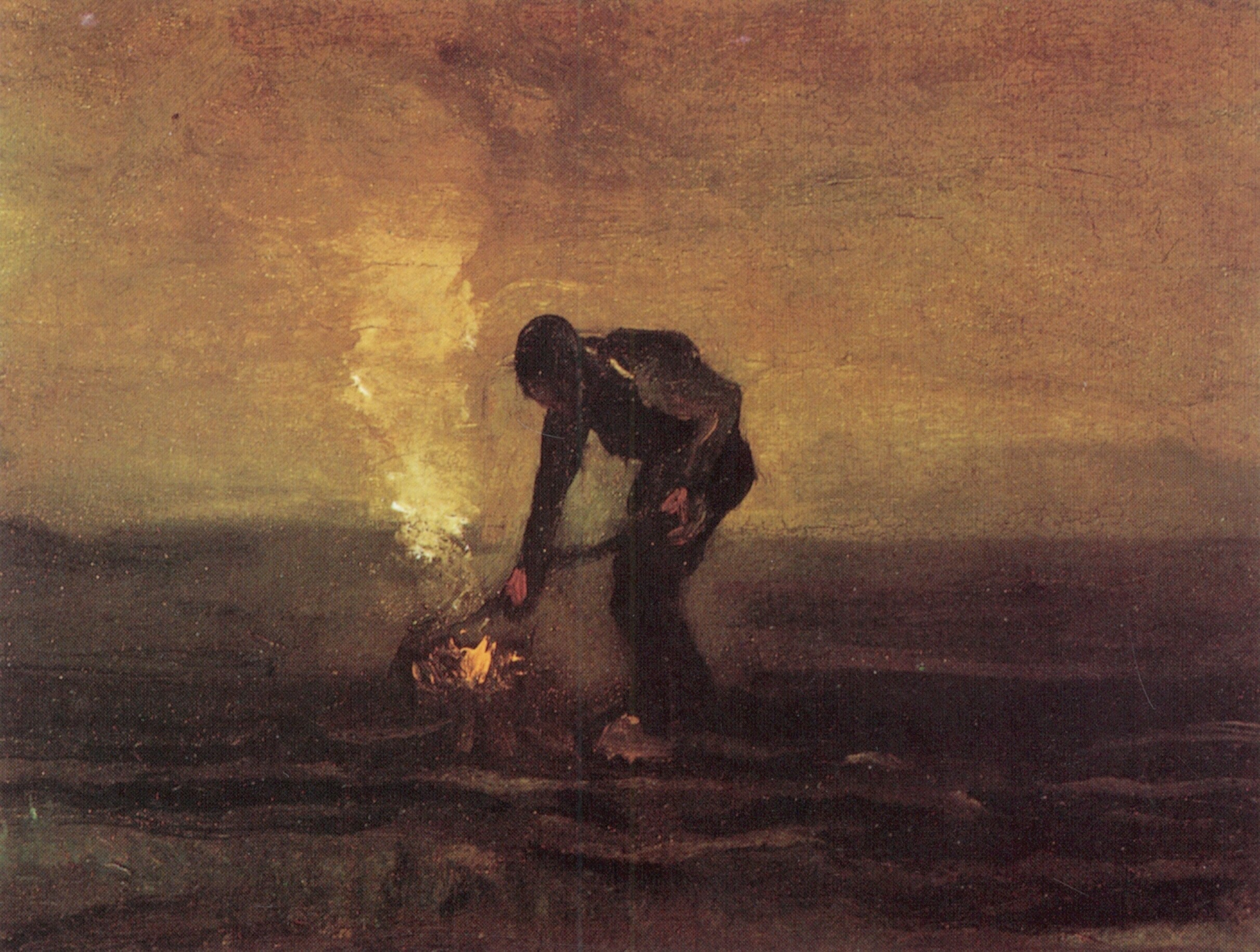 Peasant Burning Weeds 1883