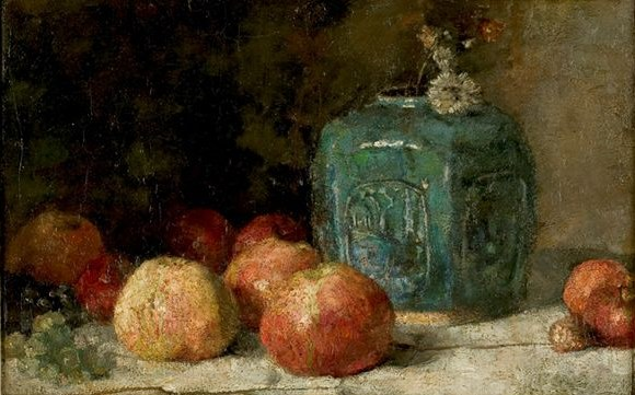 Still Life with Ginger Jar and Apples 1885
