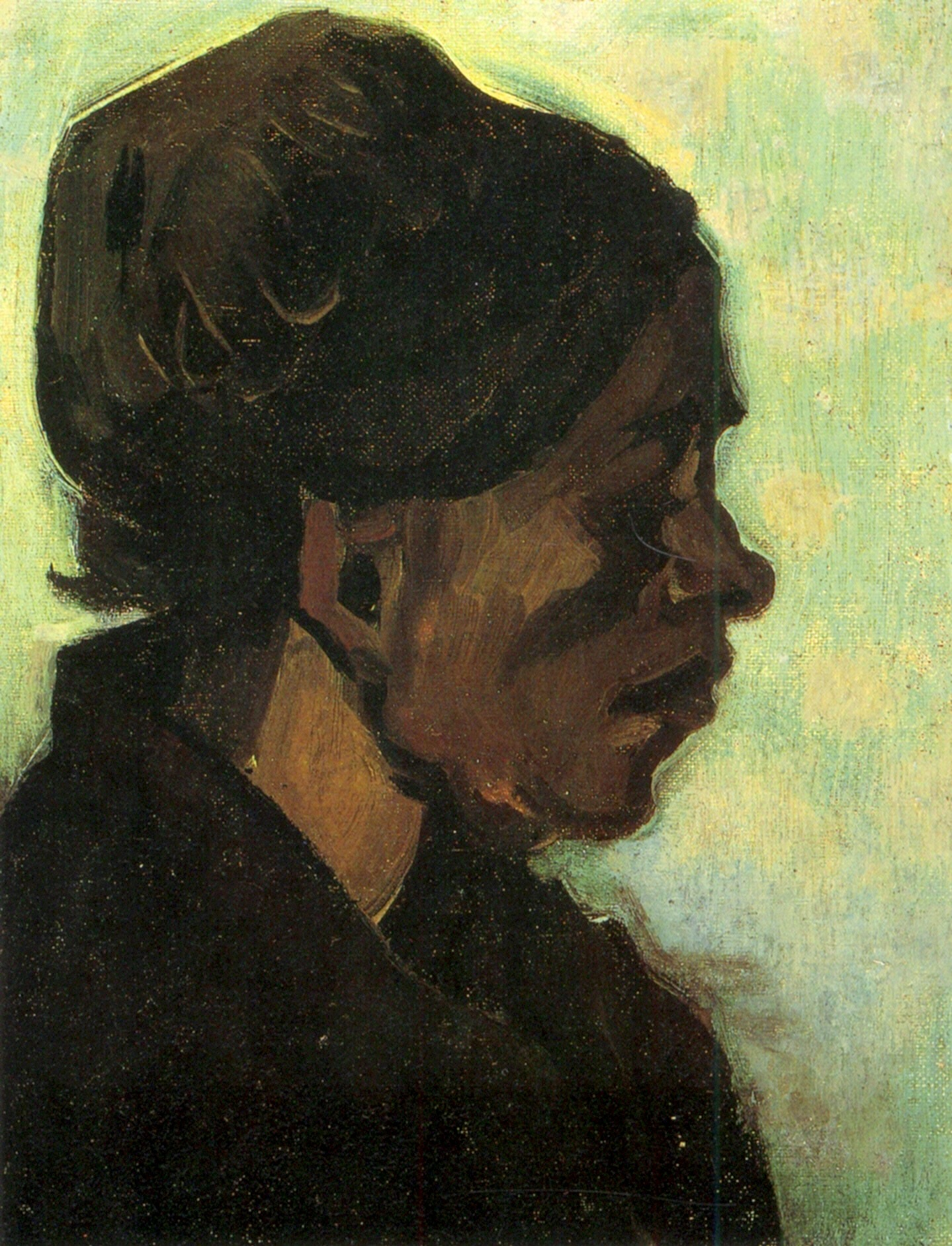 Head of a Brabant Peasant Woman with Dark 1885
