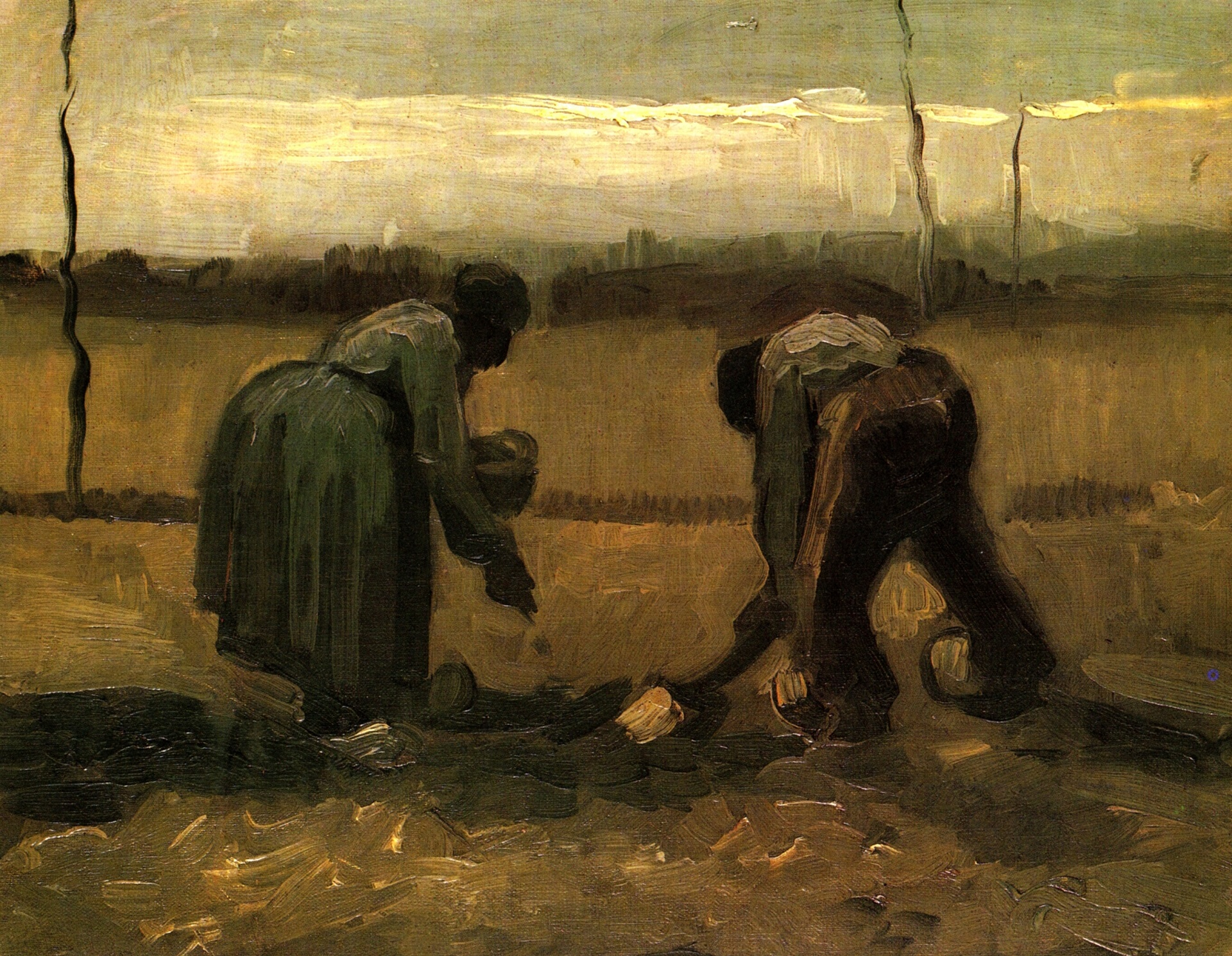 Peasant and Peasant Woman Planting Potatoes 1885