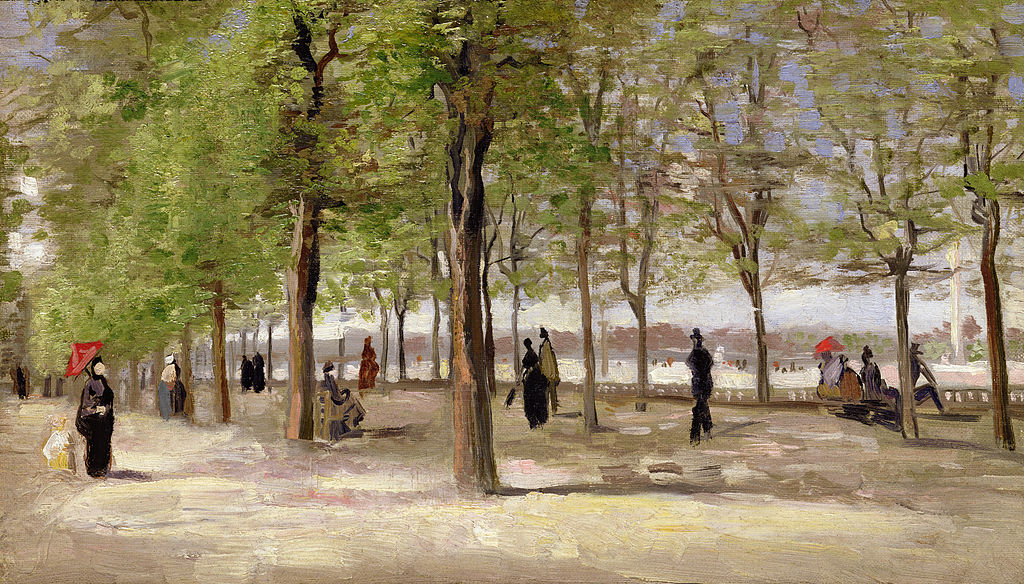 Lane at the Jardin du Luxembourg 1886
