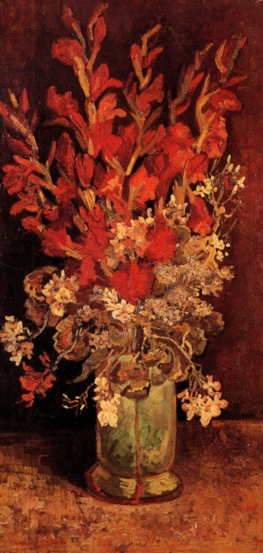 Vase with Gladioli and Carnations 1886