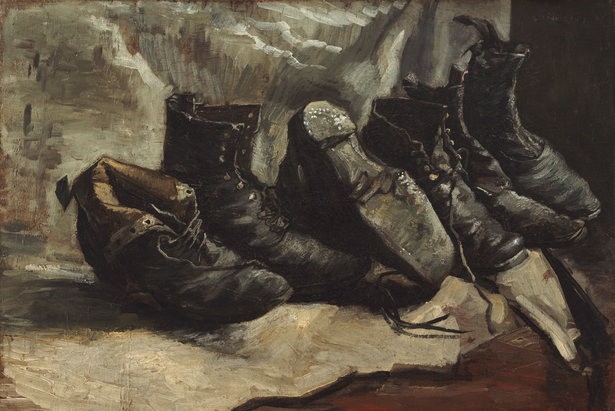 Three Pairs of Shoes 1886