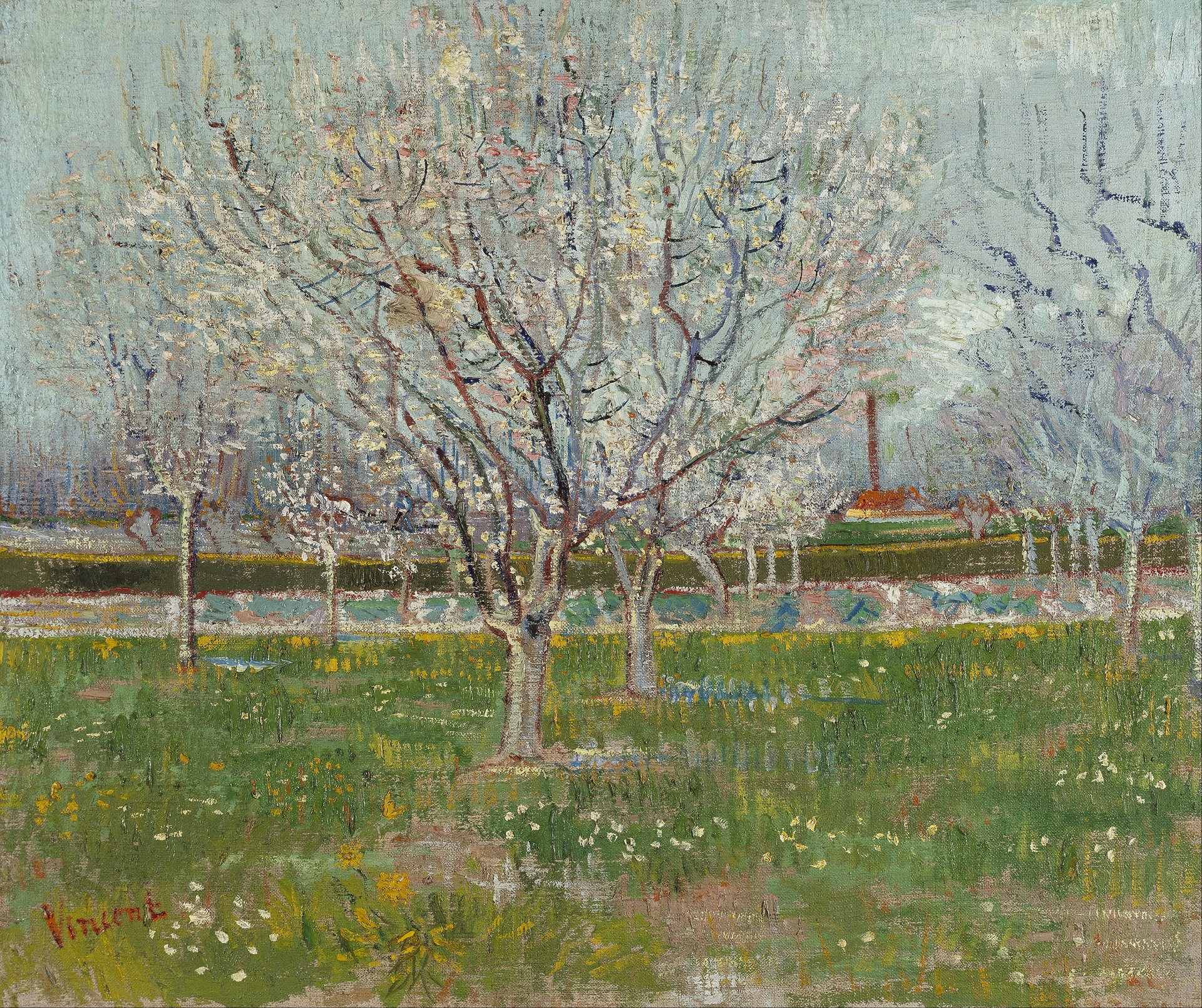 Orchard in Blossom. Plum Trees 1888