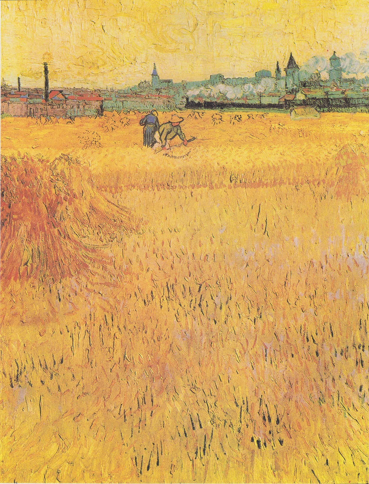 Arles, View from the Wheat Fields 1888