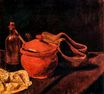 Still Life with Earthenware, Bottle and Clogs 1881