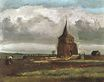 The Old Tower at Nuenen with a Ploughman 1884