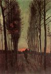 Avenue of Poplars at Sunset 1884