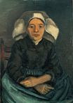 Peasant Woman, Seated with White Cap 1884