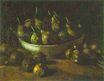 Still Life with an Earthen Bowl and Pears 1885