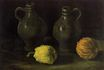 Still Life with Two Jars and Two Pumpkins 1885